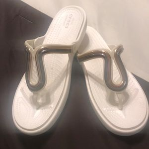 Crocs white sandals size 11 NWOT